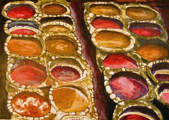 Dye Pots, Fez, Morocco