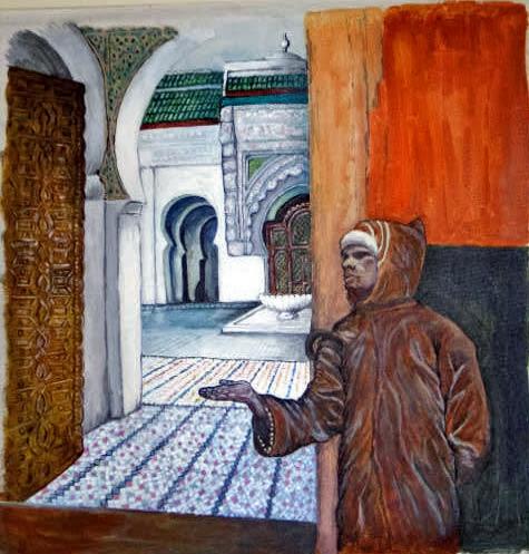 Blind Beggar, Fez, Morocco