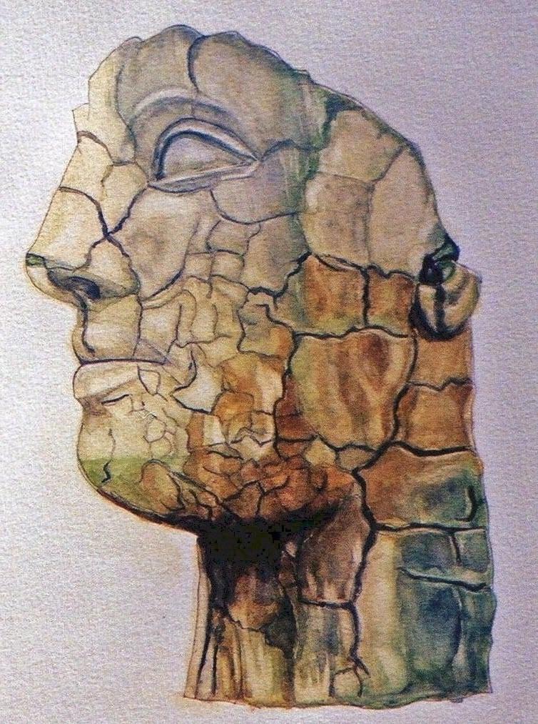 Stone Head (II) Boboli Gardens, Florence