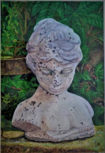 Stone Head of a Young Girl