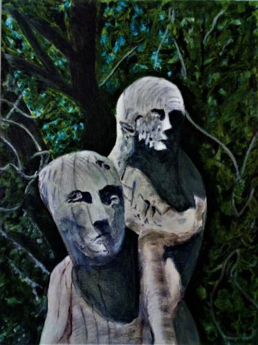 """""""Wooden Figure Mendip Hospital cemetery (III)"""" DSC_0328 (2)"""