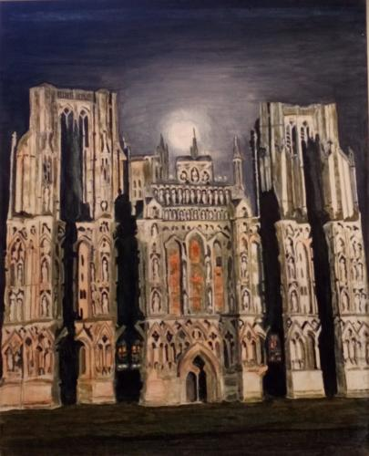 """Wells Cathedral at Night"""